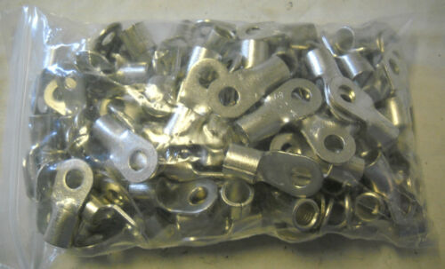 LOT OF 100 PETERS-DE-LAET R-715640BB TERMINAL RING,#5//16 2AWG STUD NON INSUL