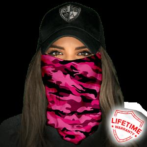 Pink Military Camo Face Shield von SA Company *SOFORTVERSAND*