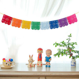 Details About Mexican Papel Picado Banners Flag Garland Wedding Spanish Mexican Party Decors