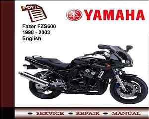yamaha fazer fzs600 fzs 600 1998 2003 workshop service repair rh ebay co uk yamaha fz6-s service manual Yamaha FZ New Model