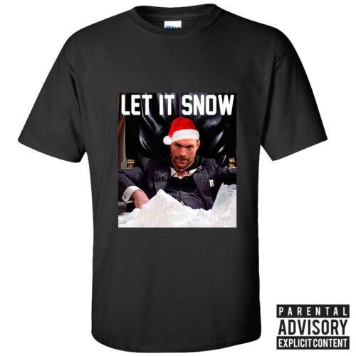 Black Let It Snow Adults /& Kids Sizes Tyson Fury T-Shirt