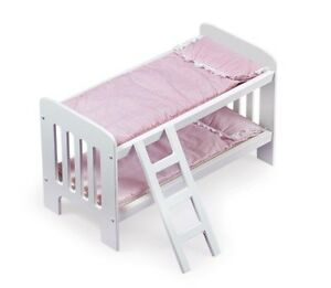 Badger Basket Doll Bunk Beds w/Ladder 1855 Doll Accessories NEW