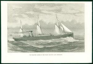 1874-Antique-Print-STEAM-SHIP-Angelo-Wilson-Line-Hull-Christiania-51