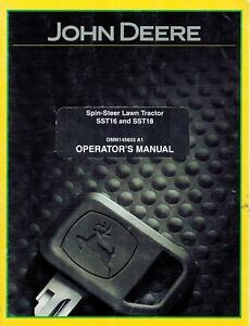 john deere sst16 sst18 spin steer lawn tractor operator s manual ebay rh ebay com john deere sst16 repair manual John Deere SST Parts