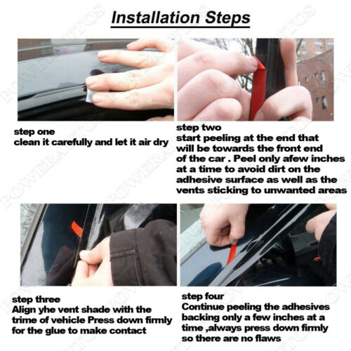 For 2006-2012 Toyota RAV4 Side Window Visors Rain Guard Vent SunTrim Autos 4Pc