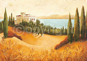 Claudia-Ancilotti-Il-Castillo-Toscane-tableau-pret-70x100-mural-Mediterranee
