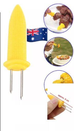 5//10Pcs  Useful Skewers Needle Barbecue BBQ Safe Prong Corn Fork Cob Holder
