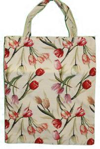 Tulpen-Blumen-Einkaufsbeutel-Tasche-Gobelin-Einkaufstasche-Tapestry-Shopper-Bag