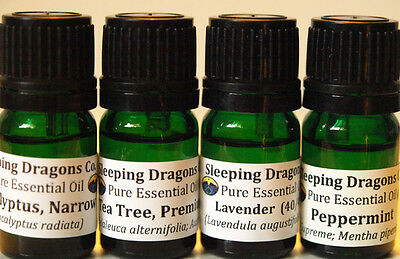 AROMATHERAPY GIFT SET Pure Essential Oil Eucalyptus Lavender Peppermint Tea Tree