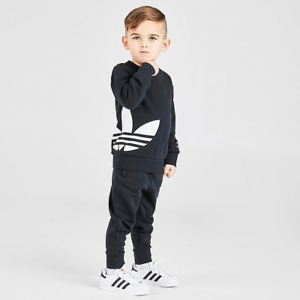 adidas Trefoil Set Felpa E Pantalone Unisex Bambini