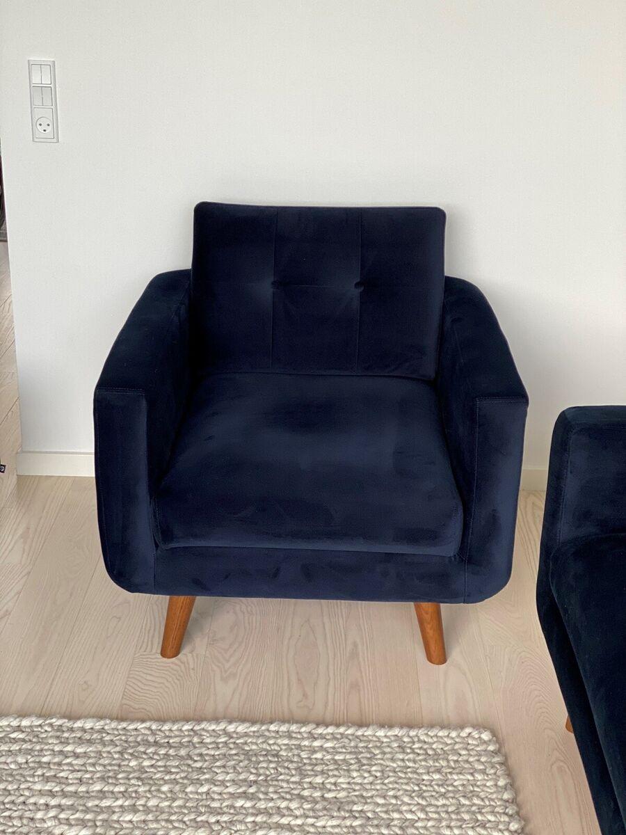 Lænestol, stof, Sofakompagniet, Flot og næsten helt ny læ