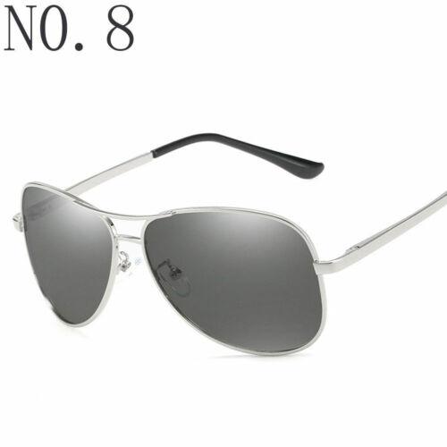 Polarized Sunglasses Men/'s Retro Aviator Metal Outdoor Drving Eyewear Glasses