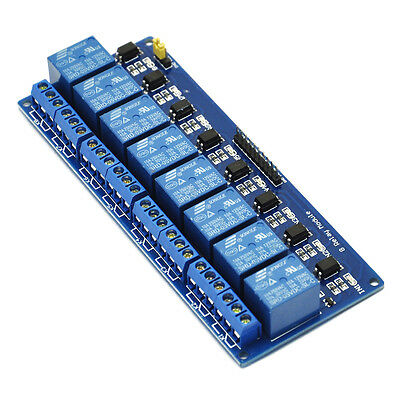 8-Channel 5V Relay Shield Module Board Optocoupler module Arduino ARM PIC AVR