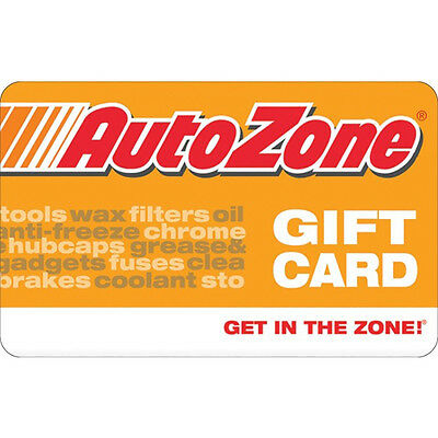 AutoZone Gift Card - $25 $50 or $100 - Fast Email delivery