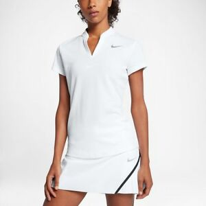 44225ab825361 Details about SZ LARGE UNIQUE 🆕Nike AeroReact Women's Short Sleeve White Golf  Polo 856789-100