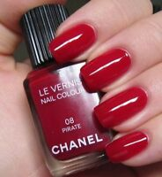 CHANEL 08 PIRATE LE VERNIS NAIL COLOUR VARNISH DEEP RED NEW BOXED MINT GIFT COND