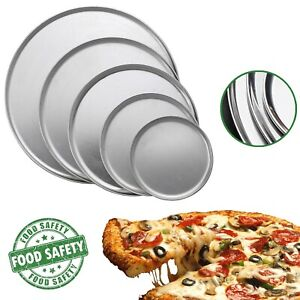 Pizza-Pan-Standart-Aluminum-Oven-Plate-Wide-Rim-Non-Stick-Baking-Tray-8-To-16-In