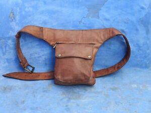 Details About Leather Hip Bag Thigh Belt Holster Utility Waist Fann