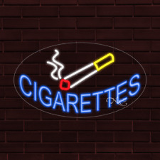 Brand New Cigarettes Withlogo Oval 30x17x1 Inch Led Flex Indoor Sign 34334
