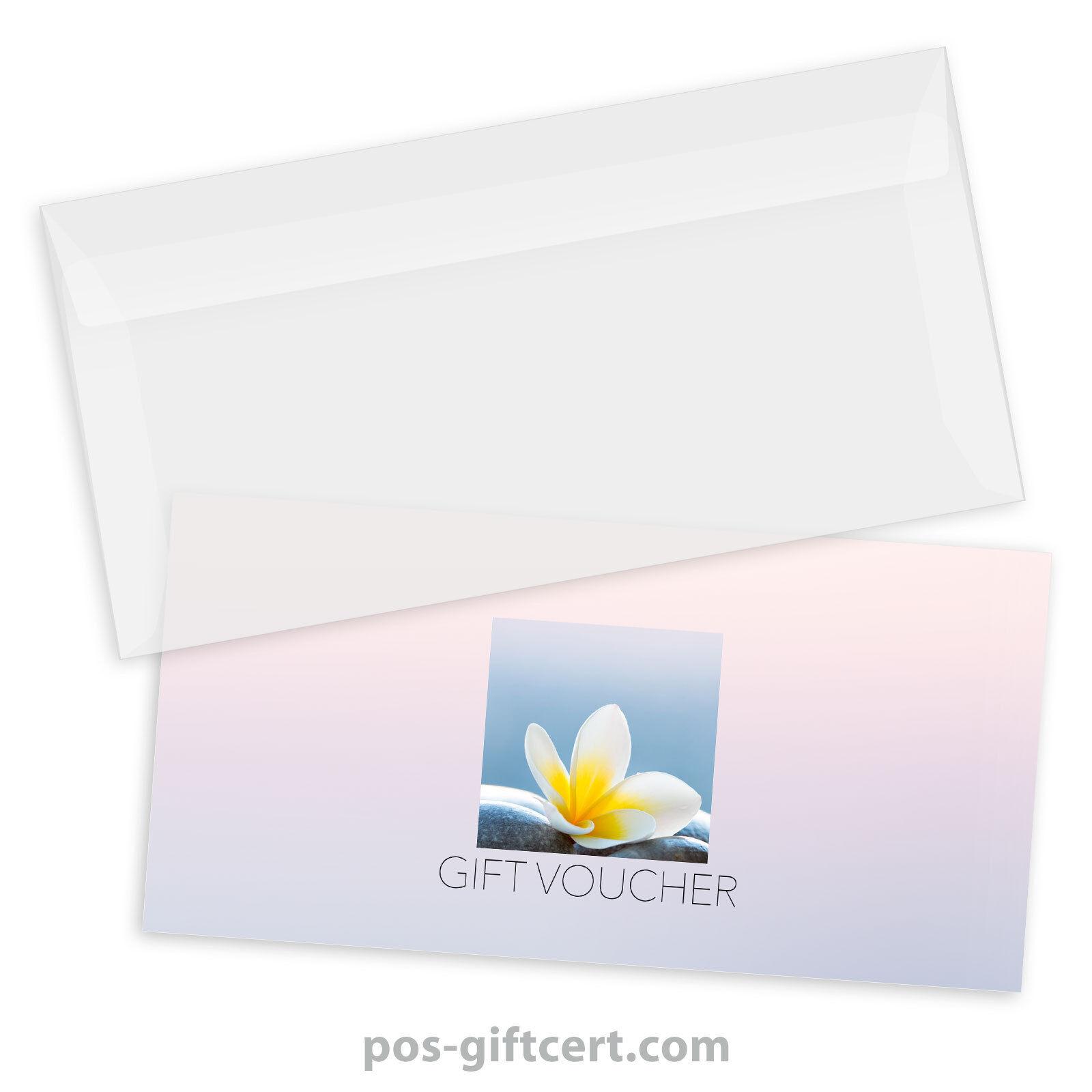 Gift vouchers  envelopes for physiotherapy, massage, wellness, spa MA9250GB | Klein und fein  | Zarte