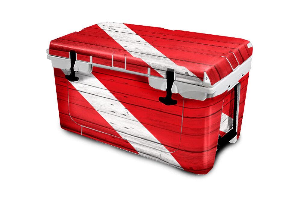 USATuff Cooler Wrap Decal 'Fits 'Fits 'Fits New Mold' RTIC 45QT FULL Dive Flag Wood be2b42
