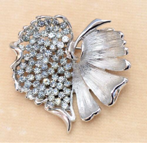 Kramer Vintage BrushedEngraved Silvertone Clip Earrings