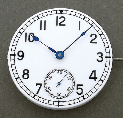 Blau-Uhr Zeiger Hand fit eta 6497 6498 Handaufzugswerk Fall Parnis