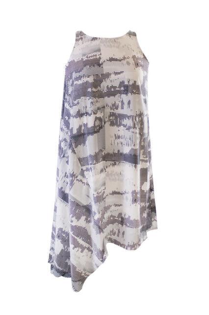 Alfani Prima Grey Sleeveless Graphic-Print Asymmetrical Dress 6