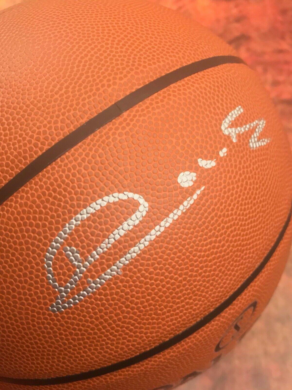GFA Sacramento Kings Hof Vlade Divac Divac Divac Firmado Autografiado Baloncesto Coa ac008c