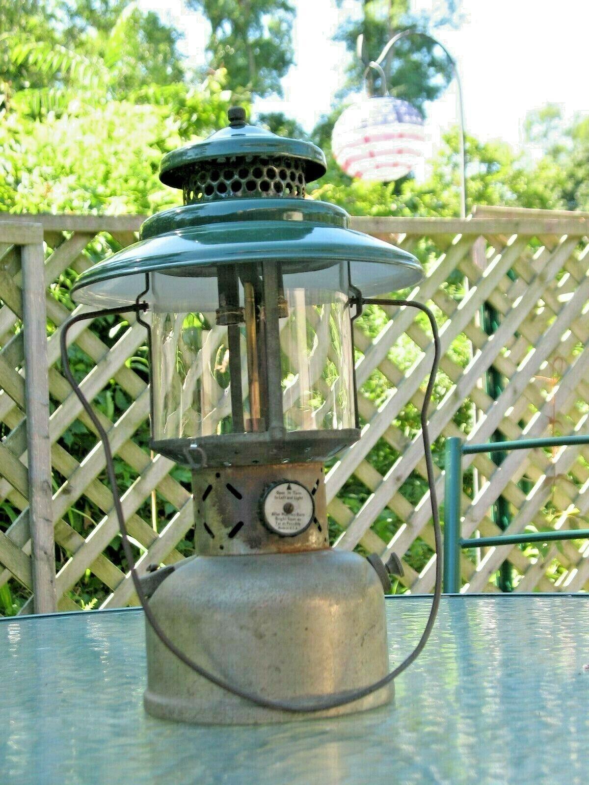 Coleman Lantern 1941 #228B Nickel Base Pyrex Globe Sun Of The Night Vintage