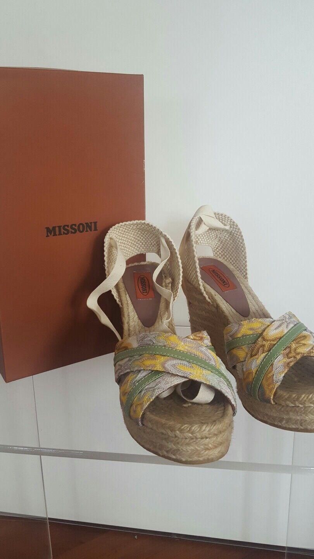 Original Missoni Missoni Original Plateau Sandalette, Größe 40 f14de1