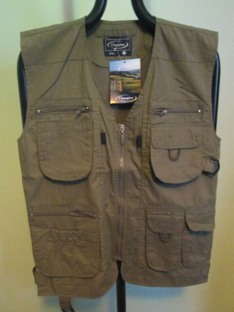 MENS CHAMPION BRAND 'DALE' HUNTING SHOOTING GILET. OLIVE ONLY. NEW