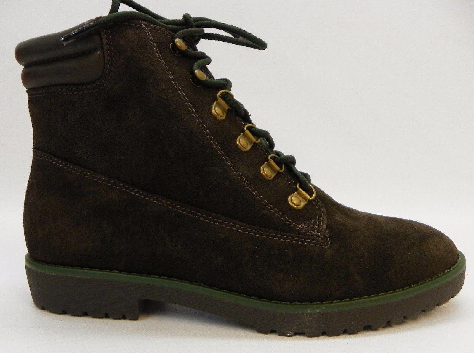 Lauren Ralph Lauren Zapatos para mujer botas con Cordones Gamuza Gamuza Gamuza miklelle Chocolate Oscuro 9  nuevo listado