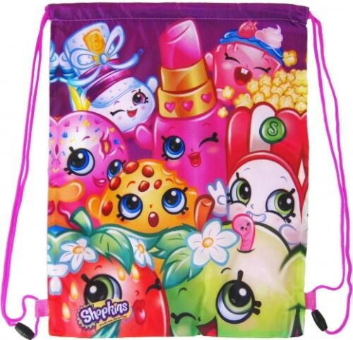 "Official Girls /""Shopkins/"" Character Sports,PE,Gym,Shoe Bag Back To School"