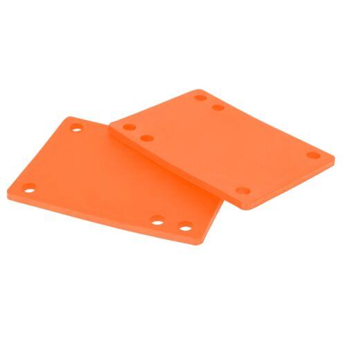 """Details about  /10 Sets Cal 7 Truck 1//8/"""" Skateboard Orange Rubber Riser Pads"""