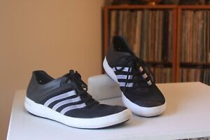 nowe wydanie duża obniżka sekcja specjalna Details about Adidas Climacool Boat Pure Black Silver Boat Shoes Womens 10  and Mens 9