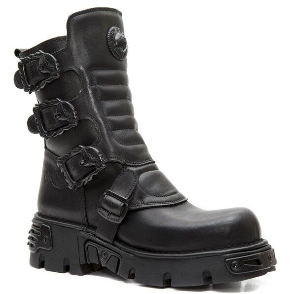 NEWROCK New Rock M.391x S2 Mens  Womens Ankle Goth Rock Boots