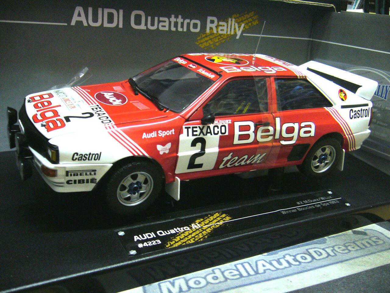 AUDI QUATTRO RALLYE BOUCLES SPA 1983 Duez Belga Taille B  2 SMS SST Sunstar 1 18
