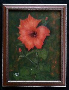 Original-oil-painting-034-Red-Poppies-034-by-Martha-Snyder-18-5-034-14-5-034