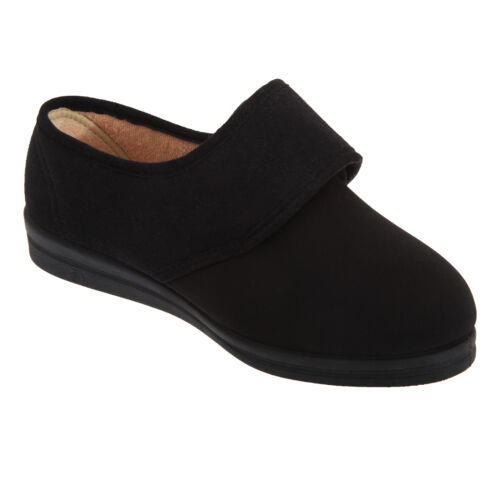 DF527 Comfylux Stella Damen Hausschuhe Pantoffeln mit Klettverschluss