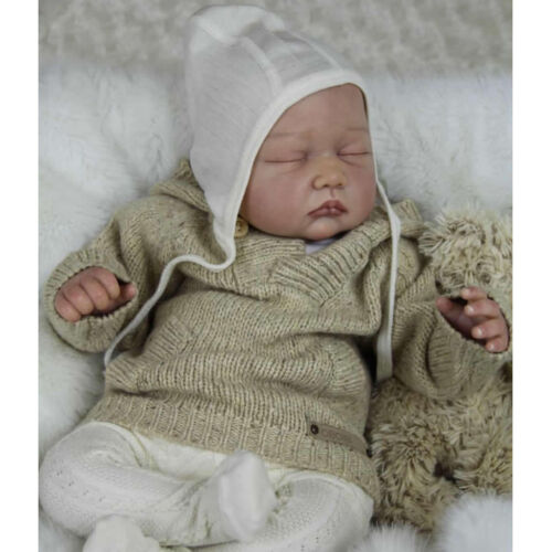 "22/"" Unpainted Reborn Kits Newborn Baby Doll with Head 3//4 Arms Full Legs #3"