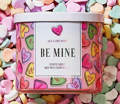 Bath /& Body Works LOVE Hearts /& Flowers 3-Wick 14.5 oz Scented Candle