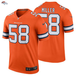 outlet store dd48a 2ab9e Details about NEW 2018 NFL Von Miller Nike Color Rush Legend Jersey Denver  Broncos #58 NWT