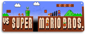 Super-Mario-Bros-Classic-Arcade-Marquee-Game-Room-Wall-Decor-Metal-Tin-Sign