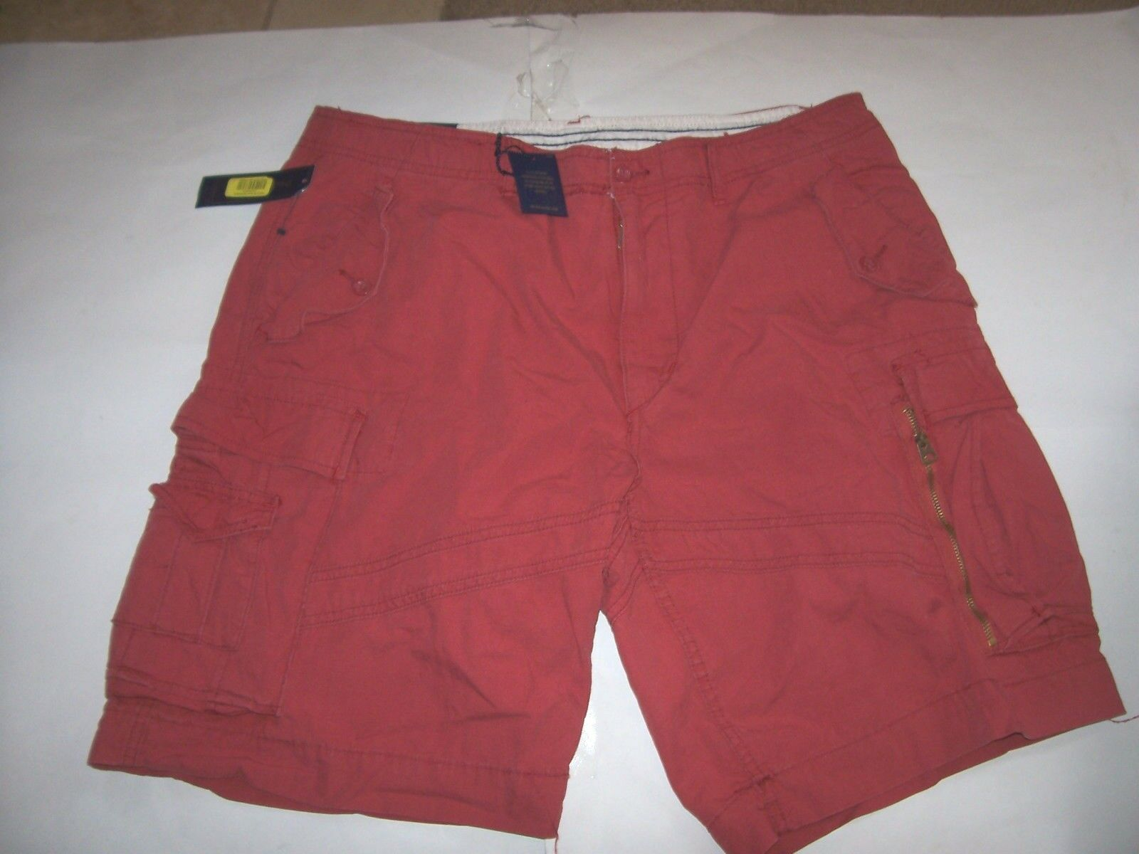 NEW Polo Ralph Lauren Santa Fe Poplin Utility Fatigue CARGO shorts red sz 40
