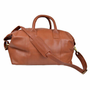 4ab1294ca0 Royce Leather Euro Traveler Petite Duffel and Overnight Bag Tan