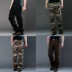 Men Casual Military Army Cargo Camo Combat Work Pant Camouflage Trousers Outdoor