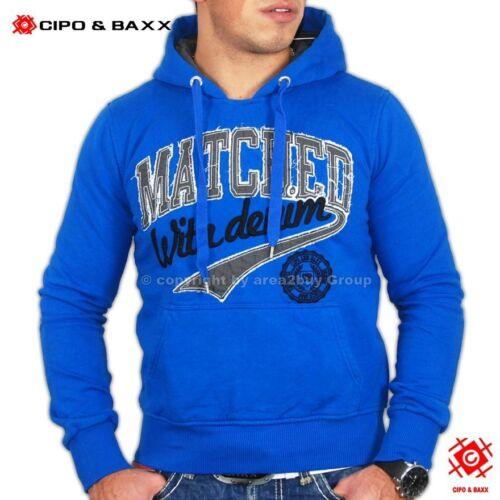 Cipo /& Baxx Felpa con Cappuccio-Pullover Hoodie Sweatjacke Gilet 5163 BLU
