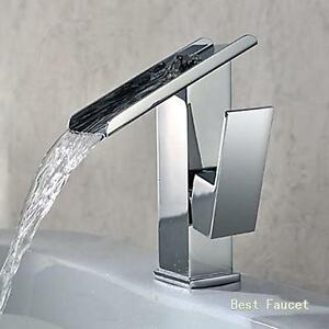 Attirant Image Is Loading Modern Chrome Fountain Waterfall Bathroom Vanity Sink  Faucet