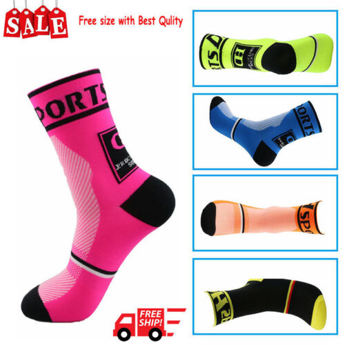 1pair Men Women Riding Cycling Sports Socks Unseix Breathable Bicycle Footwear G